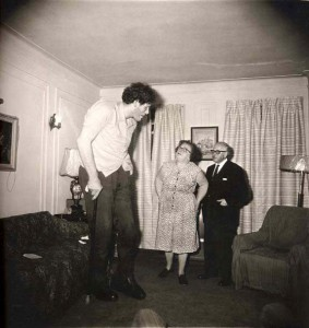 Jewish Giant, Taken at Home with His Parents in the Bronx, New York