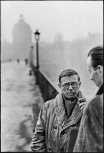 Jean-Paul Sartre ritratto da Henri Cartier-Bresson