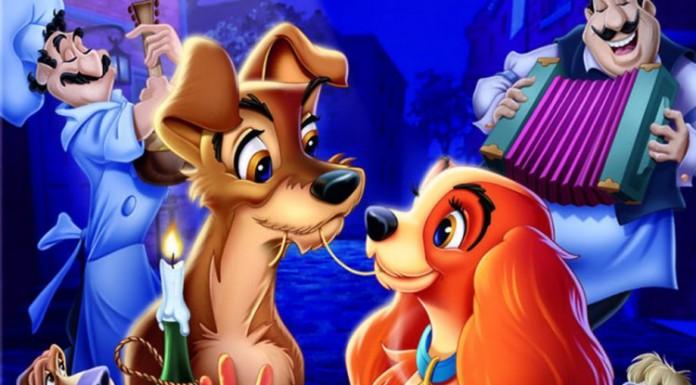 La celebre scena del bacio in Lilli e il vagabondo