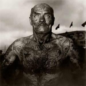 Tattooed Man at a Carnival, MD