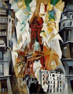 Campo di Marte: la torre rossa, quadro di Delaunay dedicato alla Torre Eiffel