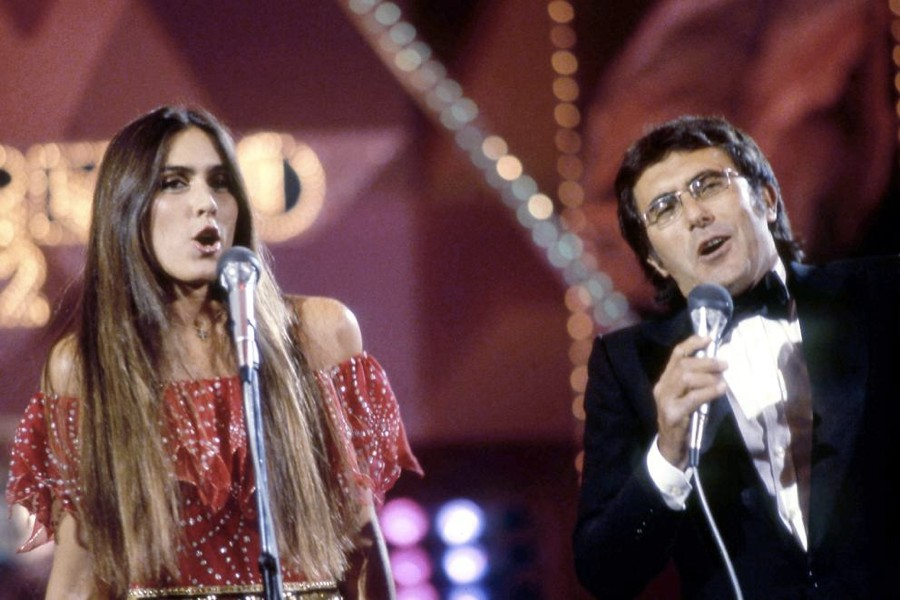Al Bano e Romina Power sul palco dell'Ariston a Sanremo