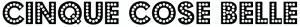 Il nome del nostro sito scritto col font Budmo