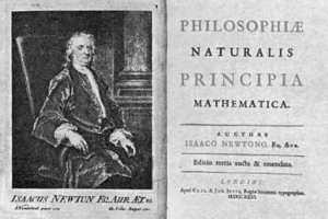 I Principia, dove vennero esposte molte delle scoperte di Isaac Newton