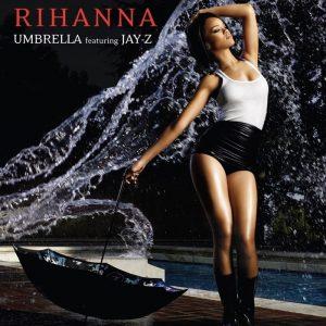 Rihanna sulla copertina del singolo di Umbrella