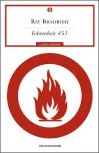 La copertina di Fahrenheit 451 di Ray Bradbury