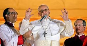 Papa Francesco subito dopo l'elezione