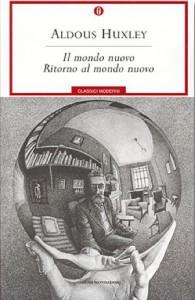 La copertina de Il mondo nuovo di Aldous Huxley