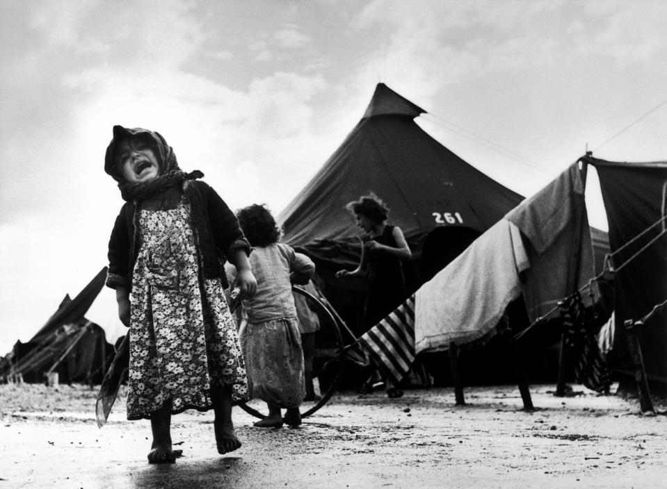 Child at the Sha'ar Ha'aliya transit camp for new immigrants