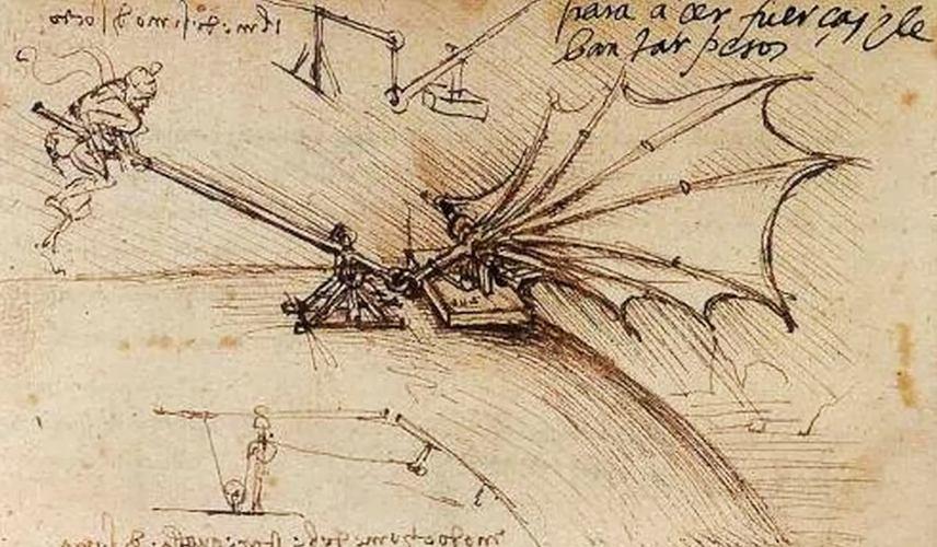 Gli appunti sul volo sono uno degli aspetti più curiosi della biografia di Leonardo da Vinci