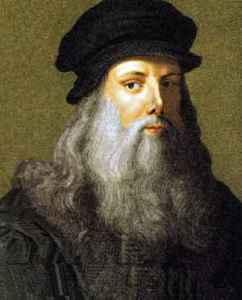 Leonardo da Vinci in un famoso autoritratto