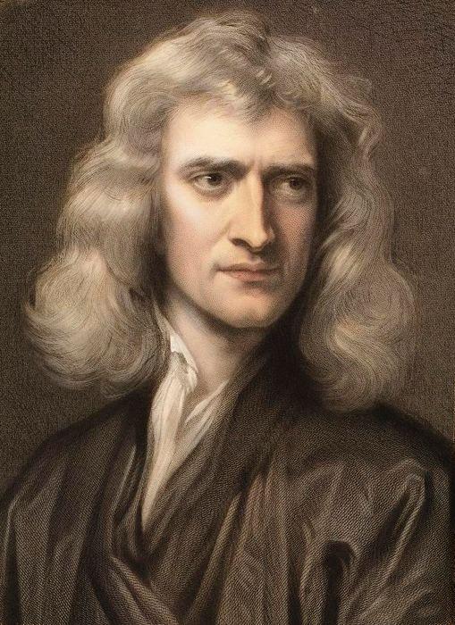 Isaac Newton in un celebre ritratto