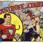 Una vecchia edizione italiana delle avventure di Superman, col costume ricolorato di rosso