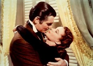 Rossella O'Hara e Rhett Butler, protagonisti di Via col vento