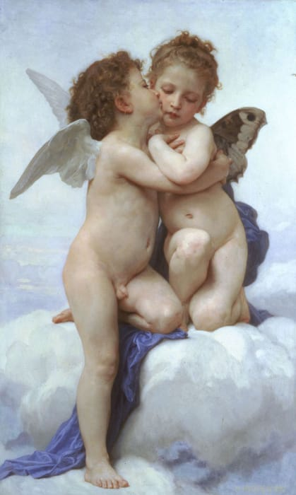 Amore e Psiche, bambini di William-Adolphe Bouguereau