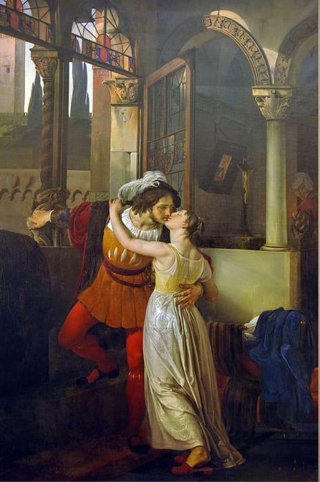 L'ultimo bacio di Romeo e Giulietta di Francesco Hayez