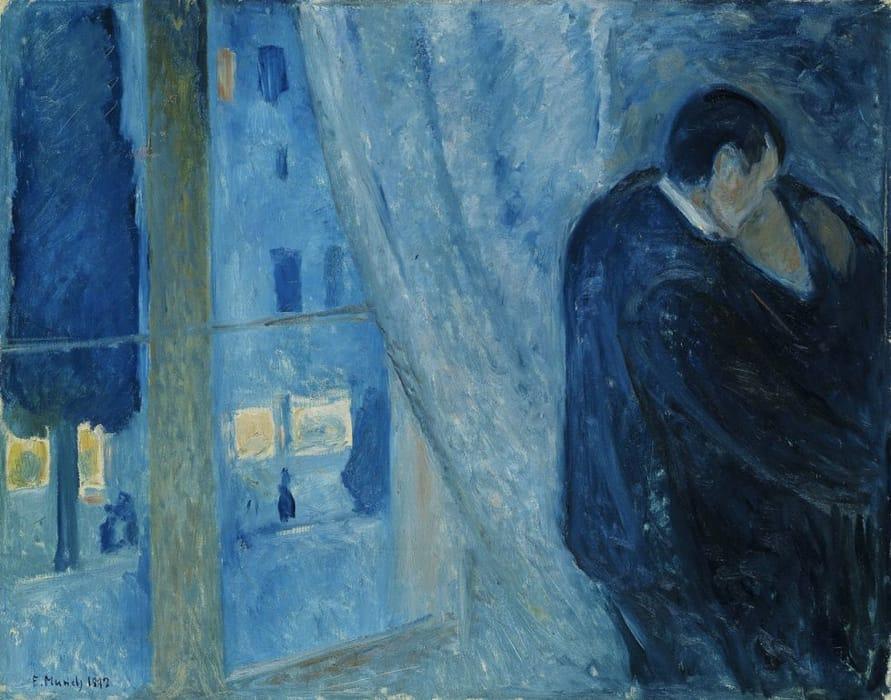 Il bacio con la finestra di Edvard Munch