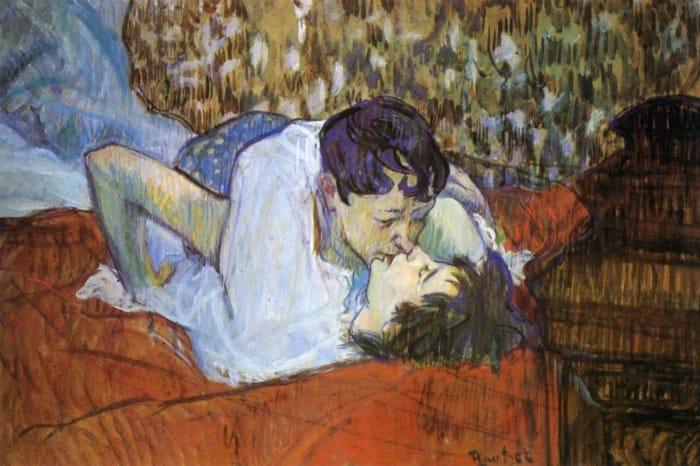Il bacio di Henri Toulouse-Lautrec