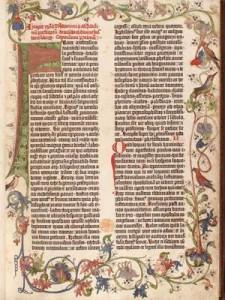 La Bibbia a 42 linee di Johann Gutenberg