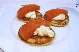 I blinis, tipico antipasto russo