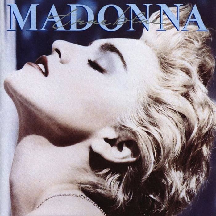 Madonna sulla copertina di True Blue