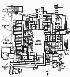 La piantina del palazzo di Cnosso che ha dato origine al mito sul più famoso dei labirinti