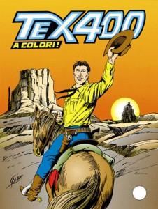 La copertina del numero 400 di Tex, l'ultima realizzata da Galep
