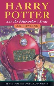 La copertina del primo volume della saga di Harry Potter