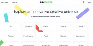 Una delle pagine di Kickstarter, tramite cui si possono esplorare i suoi migliori progetti