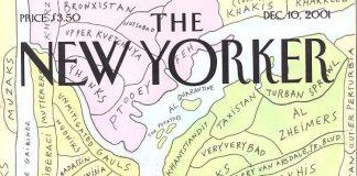 La copertina del New Yorker di fine 2001 in cui si ribattezzano i vari quartieri della città