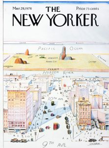 Il Mondo visto dalla nona strada, famosa copertina del New Yorker firmata da Saul Steinberg
