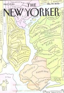 New Yorkistan in una delle più celebri copertine del New Yorker