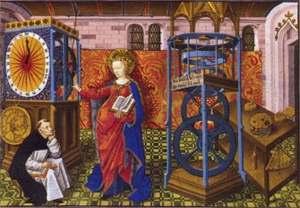 Un orologio meccanico in un dipinto d'epoca
