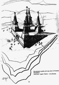 Il labirinto di re Porsenna ricostruito sulla base della descrizione di Plinio il Vecchio
