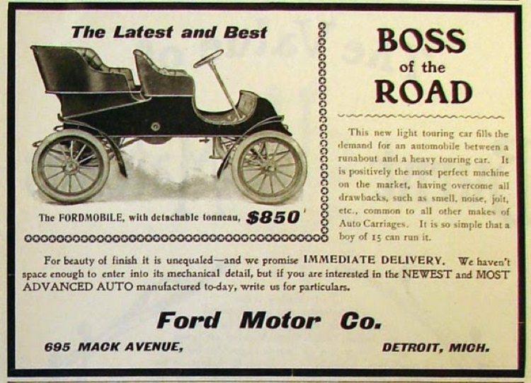 Pubblicità della Fordmobile