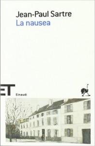 La copertina de La nausea di Jean-Paul Sartre, celebre romanzo del filosofo padre dell'esistenzialismo francese