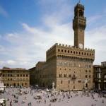 Piazza della Signoria a Firenze col caratteristico Palazzo Vecchio