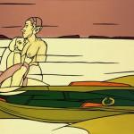 """Finlandia"", dipinto del 1987 di Valerio Adami"