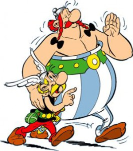 Asterix, forse il più famoso dei personaggi del fumetto francese e belga