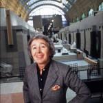 Gae Aulenti all'interno del Museo d'Orsay