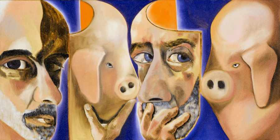 Autoritratto con e senza la maschera di Francesco Clemente
