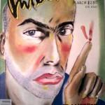 La copertina di Interview del marzo 1988 realizzata da Clemente con un suo autoritratto