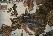 Una illustrazione sull'Europa durante la Grande Guerra