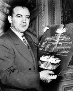 Joseph McCarthy, personaggio fondamentale della storia degli anni '50