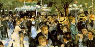 Bal au moulin de la Galette di Renoir, uno dei più grandi pittori francesi dell'800