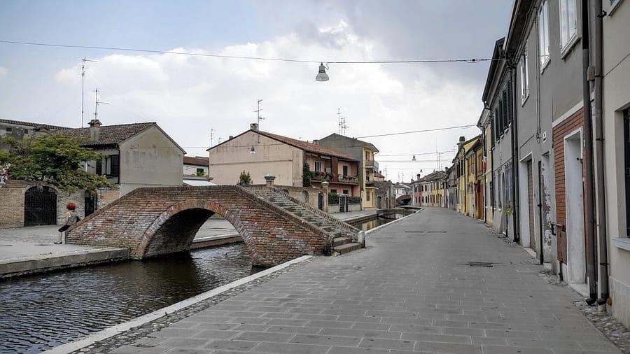 Uno dei ponti di Comacchio