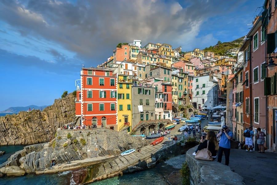 La bella Riomaggiore, nelle Cinque Terre