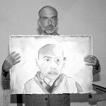 Francesco Clemente nel 1991 (foto di Sally Larsen via Wikimedia Commons)