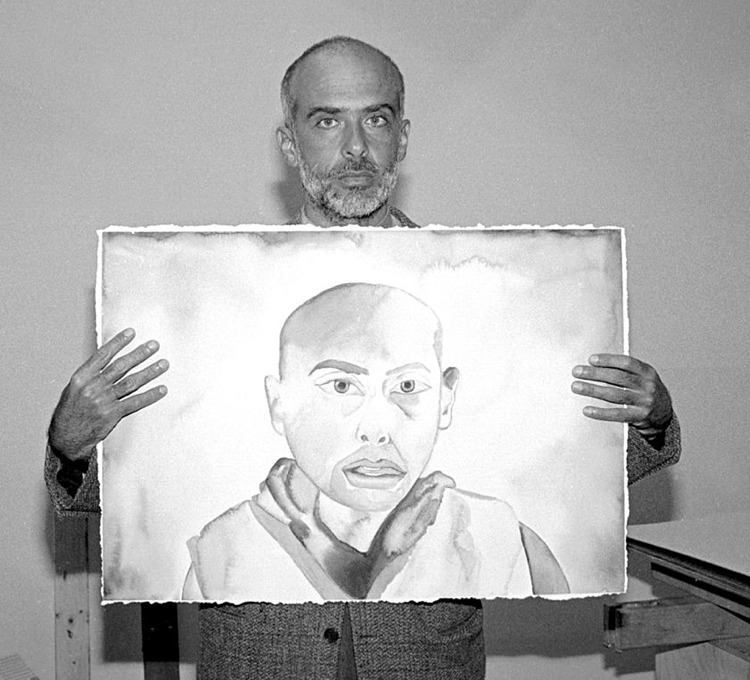 Francesco Clemente nel 1991 (foto di Sally Larsen via Wikimedia Commons)