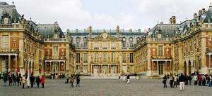 La reggia di Versailles dall'esterno